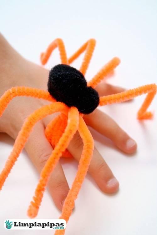 arañas con escobillones