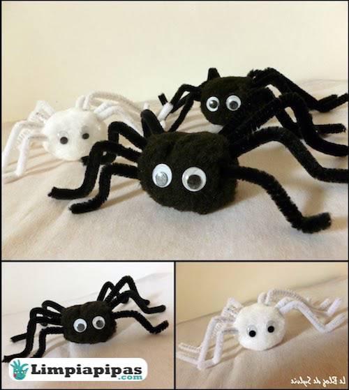 arañas con limpiapipas