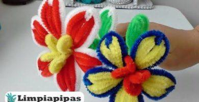 flores con limpiapipas