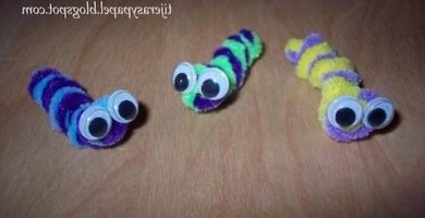 gusanos con limpiapipas