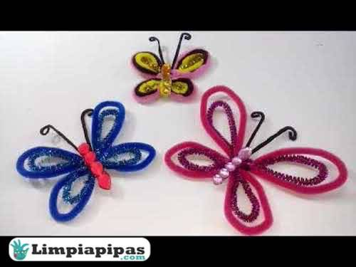 mariposas limpiapipas