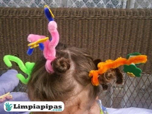 peinados con limpiapipas